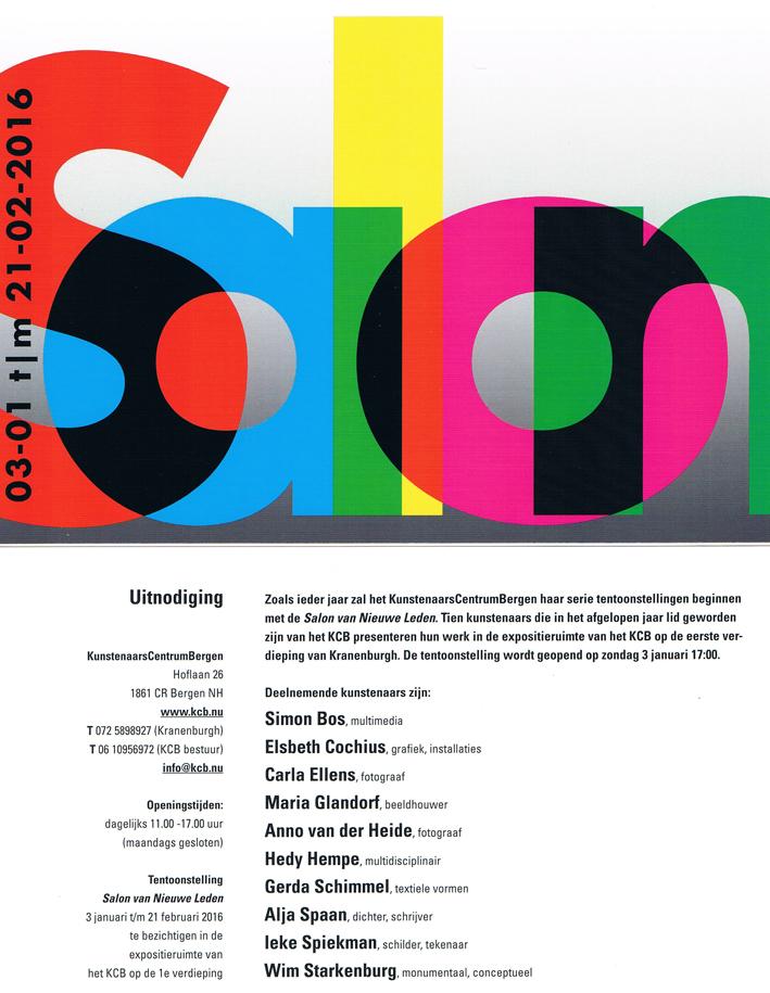 Uitnodiging Salon NL 2016