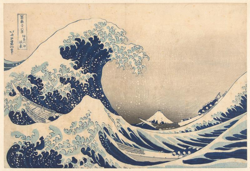 Houtsnede van de Japanse kunstenaar Katsushika Hokusai