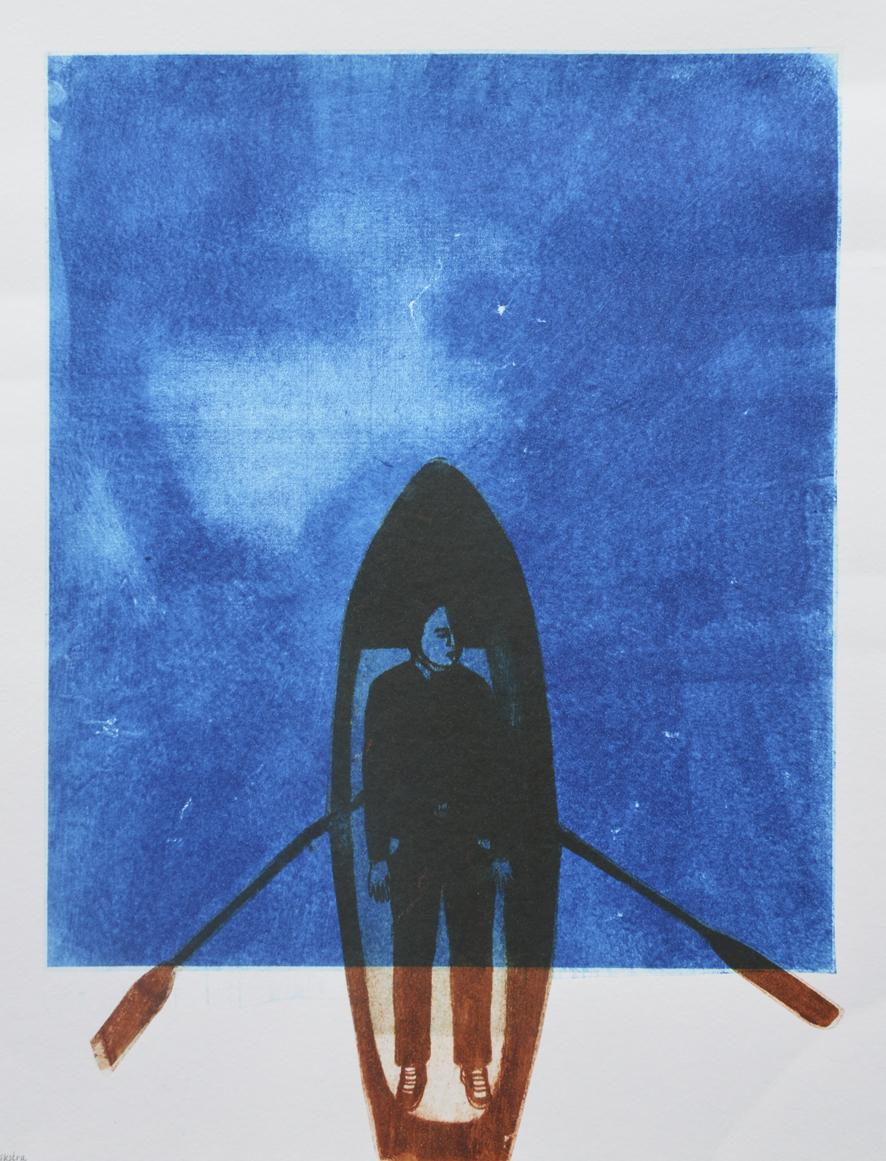 Papierlithografie van Emmy Dijkstra
